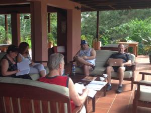 Writers at the retreat